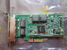Quad Port GbE GE GigaBit EtherNet PCI-e 2.0 x4 Dell YGCV4 BroadCom BCM95719
