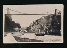Gloucestershire Glos BRISTOL Clifton Bridge & Paddle Steamer Used 1906 RP PPC