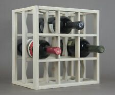 Victoria Wine Rack 9 bottles Solid Wood  Sunbleached Gray Stain Countertop