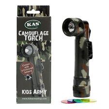 Niños Camuflaje del ejército antorcha de lentes de color - 4 Linterna de células-C