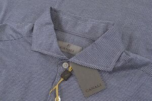 NWT Current Canali 1934 Size Large Dress Shirt Blue White Italy Modern Cutaway