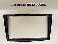 Mascherina autoradio Doppio 2 Din OPEL H Astra Corsa Zafira dal 2005 Nero Lucido