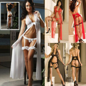 LONGUE NUISETTE DENTELLES SEXY FEMME XL 42 NIGHTWEAR WOMAN ROBE DRESS