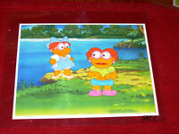 ORIGINAL MUPPET BABIES PRODUCTION ANIMATION CEL SKEETER & SCOOTER NEAR THE LAKE