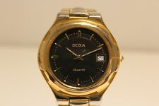 "VINTAGE BEAUTIFUL SWISS LADIES GOLD PLATED STAINLESS.STEEL QUARTZ WATCH ""DOXA"""