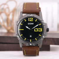 Men's Leather Quartz Watches Luxury Waterproof Business Sport Fashion Date