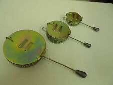 """Set of 3 Metal Bait Droppers.  Sizes 3"""", 2"""" and 1.5"""" diametre."""