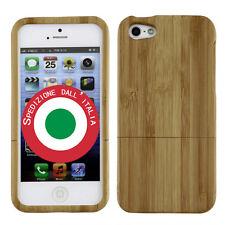 Cover Custodia Bumper VERO LEGNO protettiva per iPhone 5/5s di bambù