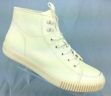 CALVIN KLEIN Jenson Ivory White Leather Hi Top Sneaker Boot Mens Shoes 12