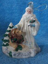 San Francisco Music Box Co Marjorie Sarnat Peace Santa Christmas Ornament