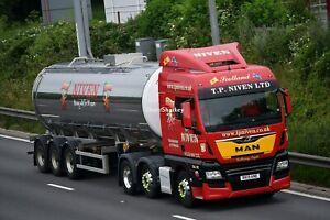 Truck Photos Scottish Dairy TP Niven of Palnackie MAN TGX & Tanker RK19 KNE