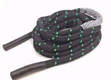 Black & Green Battle Exercise Battling Ropes Fitness Training Gyms, 40mm x 14m