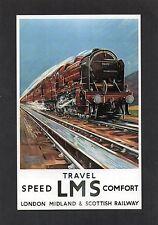 ADVERTISING POSTCARD - TRAVEL LMS - DALKEITH SERIES TRAINS/RAILWAYS