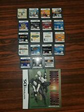 Nintendo DS Lot Of 19 games good rpg front mission bangai golden sun and more