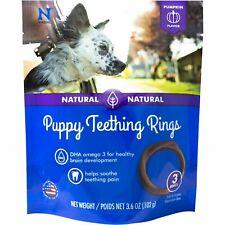 New listing N-Bone Puppy Teething Ring Pumpkin Flavor Set 3 Pack Edible Digestible Treat Dog