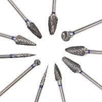 10pc Tungsten Carbide Steel Dental Burs Lab Tooth Burrs Drill Marathon Polishers