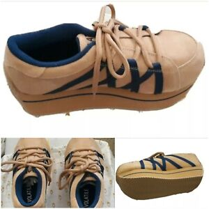 VOLATILE platform shoes sneakers VOLATILE Rare Celebration Tan/Navy SIZE 10