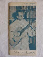 Padre COCAGNAC BIBBIA E CHITARRA Testo di 24 canzoni in francese Anni '60