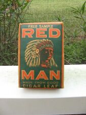 FREE SAMPLE RED MAN FEATURE INDIAN CHIEF PAPER PACKAGE TOBACCO PACK MINTY NO RSV