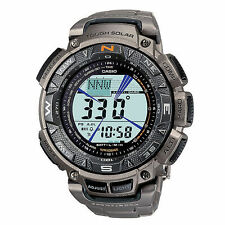 NEW Casio Solar Pathfinder Mens Titanium Watch PAG240T-7 BNIB FREE SHIPPING USA
