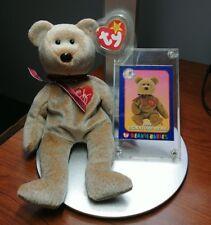 1567 NEW YORK YANKEES TY BEANIE BABIES 1999 SIGNATURE BEAR WITH CARD NYY NY 0c5f0ae18627