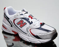 New Balance 530 Men's White Red Low Athletic Casual Lifestyle Sneakers Shoes
