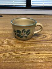 Pfaltzgraff Folk Art Coffee/Tea Mug #100 - Color Brown (Main) & Blue (Symbol)