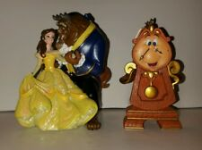 Disney Beauty And The Beast Belle Cogsworth Christmas Ornament Set Of 2