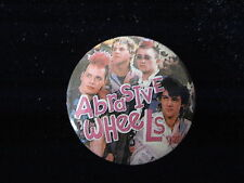 Abrasive Wheels-Punks Go Marching In-Group-Pin Badge Button-80's Vintage-Rare