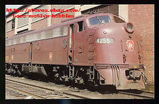 LMH Postcard PENNSYLVANIA Railroad  E8 PRR #4255  Tuscan Red Paint  Penn Central
