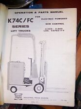 1971 Yale Industrial Lift Truck Maintenance Parts Manual K74C FC Electric SCR L