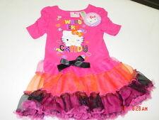 NWT Toddler Girls Hello Kitty Tutu Dress Pink Halloween Party Cute Colorful Fun
