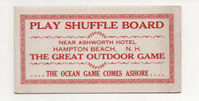 SUFFLE BOARD Near Ashworth Hotel Hampton Beach, N. H. Vintage Ink Blotter