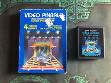 Atari 2600 Video Pinball With Box Vintage Game Working