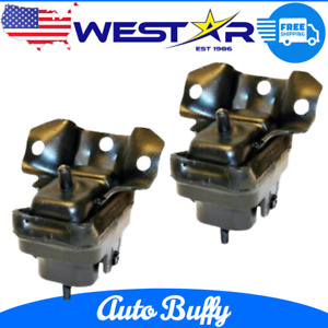 Front Motor Mount 2pc Set Pair Kit for Cadillac Escalade Chevy GMC Pickup SUV