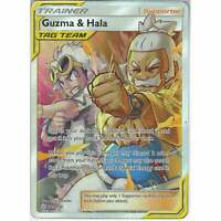 229/236 Guzma & Hala | Rare Ultra Card SM12 Cosmic Eclipse Pokemon TCG Full Art