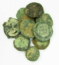 LOT of 11 ROMAN BRONZE COINS TO IDENTIFY circa 100 - 300 AD (762)