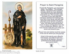 Prayer To Saint Peregrine Prayer Card Ask Of God & Our Lady The Cure Of The Sick