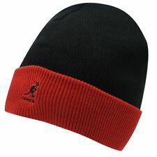 New kangol Unisex Acrylic Cuff Pull-On Beanie Hat, Black Black/Red, One size