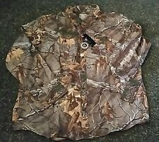NWT MSRP $79 Mens Under Armour Heat Gear Button Front Long Sleeve Shirts Camo