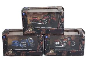 2005 New-Ray Toys 1:32 Scale INDIAN Motorcycles LOT OF 3 1929 1945 1947 New Box