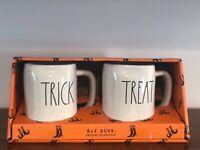 Rae Dunn Halloween Collection By Magenta LL TRICK, TREAT Coffee Mug, Set of 2