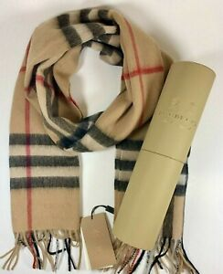 BRAND NEW WITH TAGS BURBERRY Cashmere Scarf Classic 100% Authentic