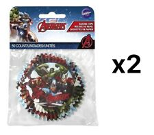 Wilton Marvel Avengers Cupcake Muffin Liner Party Baking Cups (2 Packs 50)