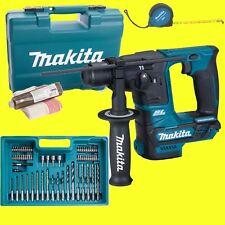 Makita Marteau-perforateur sans fil hr166d SOLO + Set d'accessoires Malette 10,8