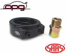 SAAS BLACK OIL ADAPTER / SANDWICH PLATE FOR OIL PRESSURE AND OR OIL TEMP GAUGE