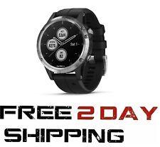 Garmin Fenix 5 Plus GPS Watch w/ TOPO Maps, Heart Rate, & Music Black/Silver