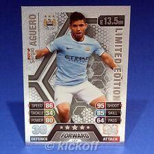 Match Attax 2013-2014: Sergio AGUERO Limited Edition * SILVER * RARE. Man City