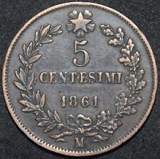 1861 M | ITALIA 5 CENTESIMI | monete di rame | | KM monete