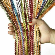 "80"" Glitter String Door Curtain Beads Room Dividers Fringe Window Panel USA"